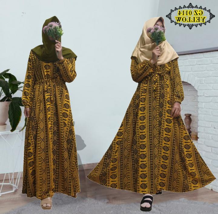 Inspirasi Baju Lebaran 2020 X8d1 Baju Gamis Lebaran Batik 2020 Gz0114 Gamisalya