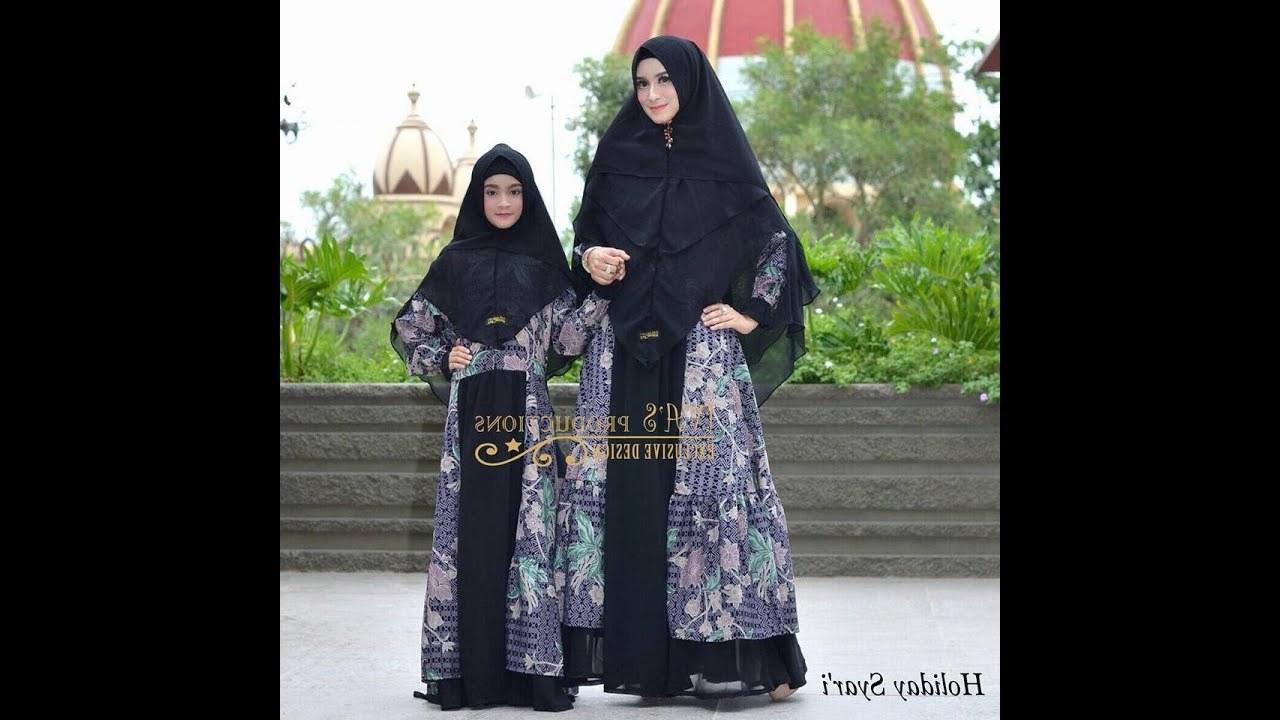 Inspirasi Baju Lebaran Anak 2018 Ffdn Baju Syari Couple Ibu Dan Anak Terbaru 2018