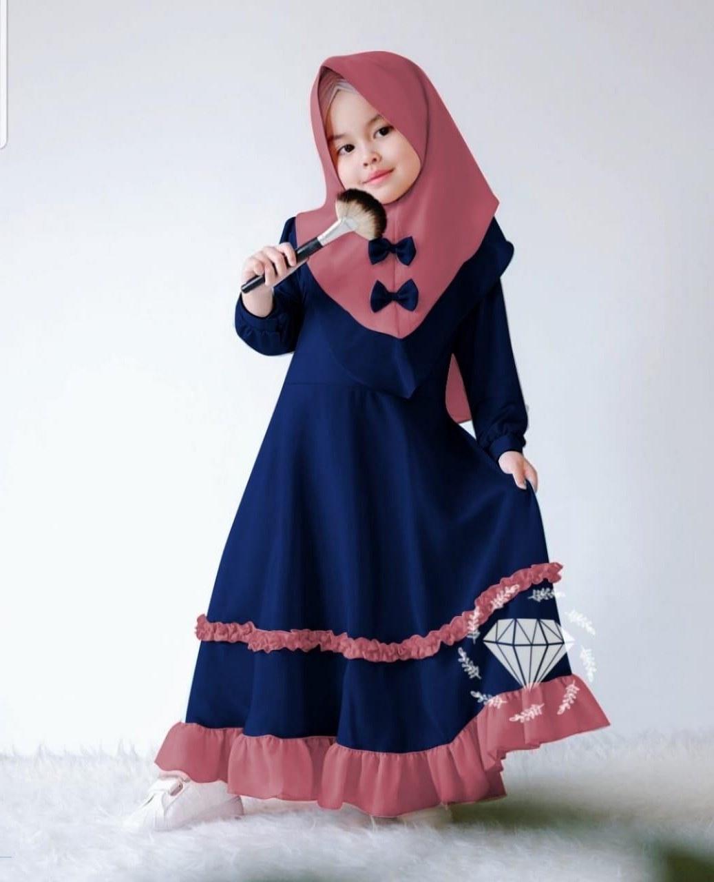 Inspirasi Baju Lebaran Anak Perempuan Umur 11 Tahun Whdr Model Baju Muslim Anak Kecil Perempuan
