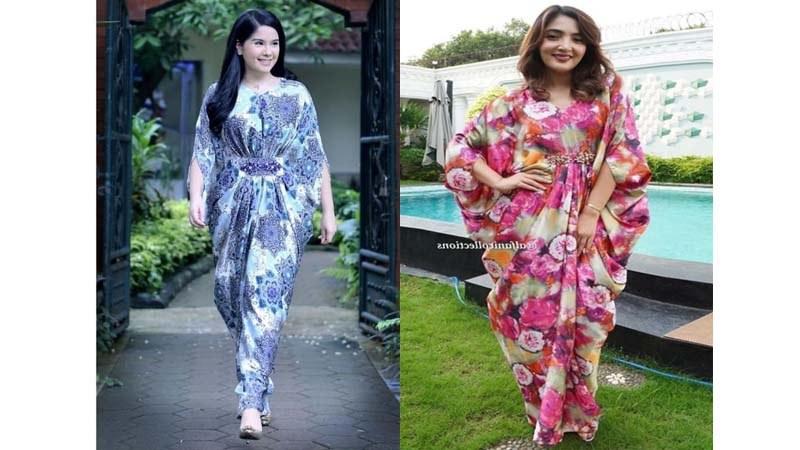 Inspirasi Baju Lebaran ashanty Budm Tren Baju Lebaran 2020 Cantiknya Busana Kaftan Bermotif Bung
