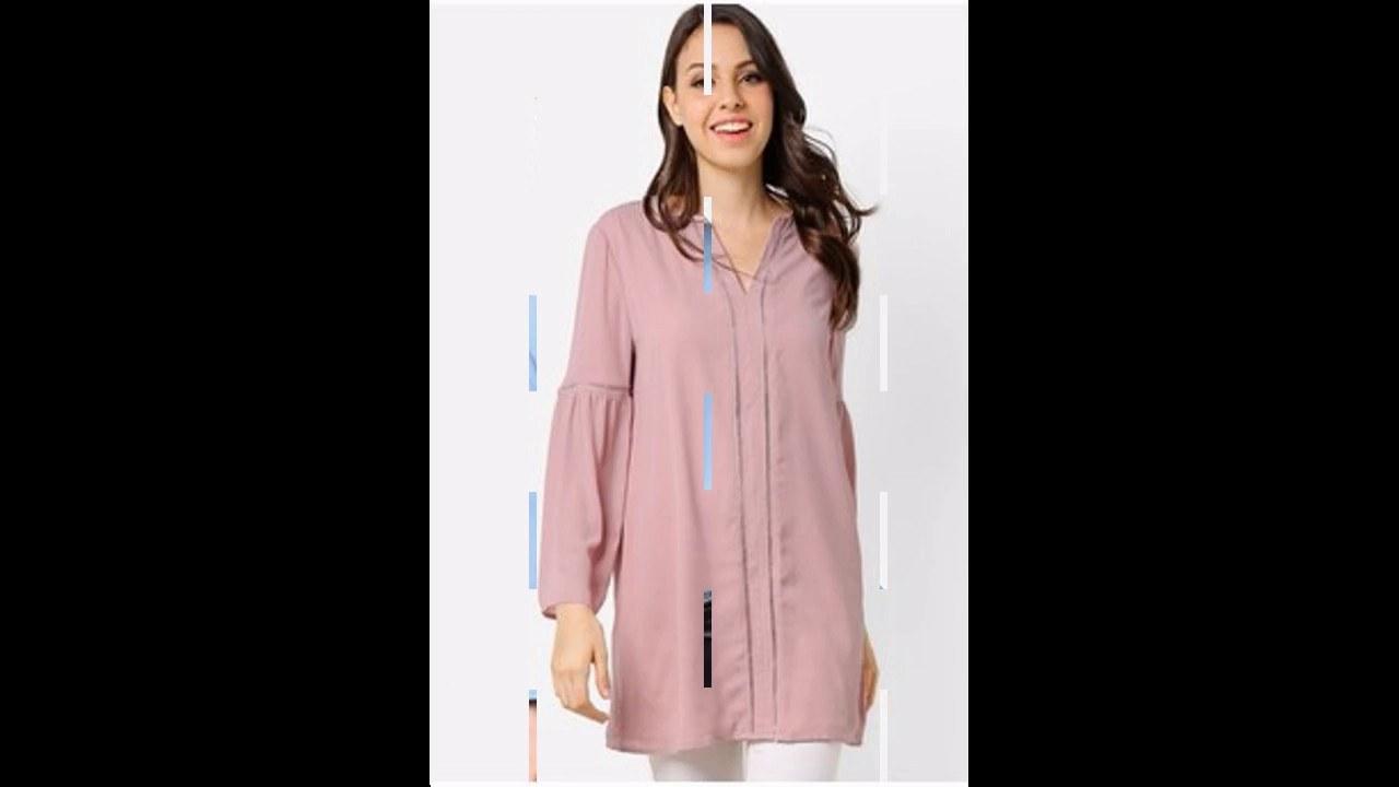 Inspirasi Baju Lebaran atasan 3id6 Baju Muslim atasan Tunik Modern Untuk Lebaran 2017