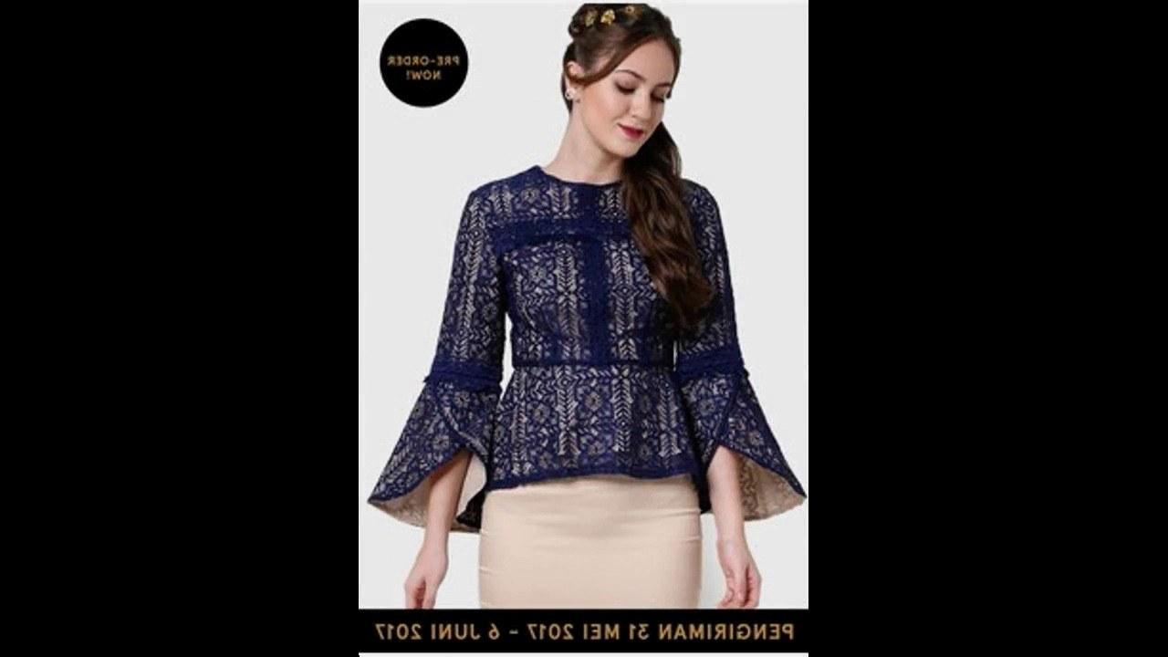 Inspirasi Baju Lebaran atasan 9fdy Model Baju Muslim atasan Blouse Terbaru Untuk Lebaran