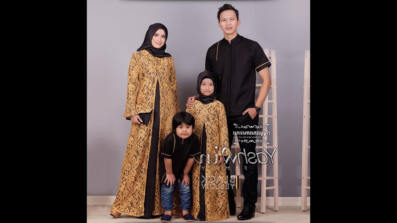 Inspirasi Baju Lebaran Brokat 2018 Txdf Baju Muslim Couple Keluarga 2018 Elegan Terbaru Trend Baju