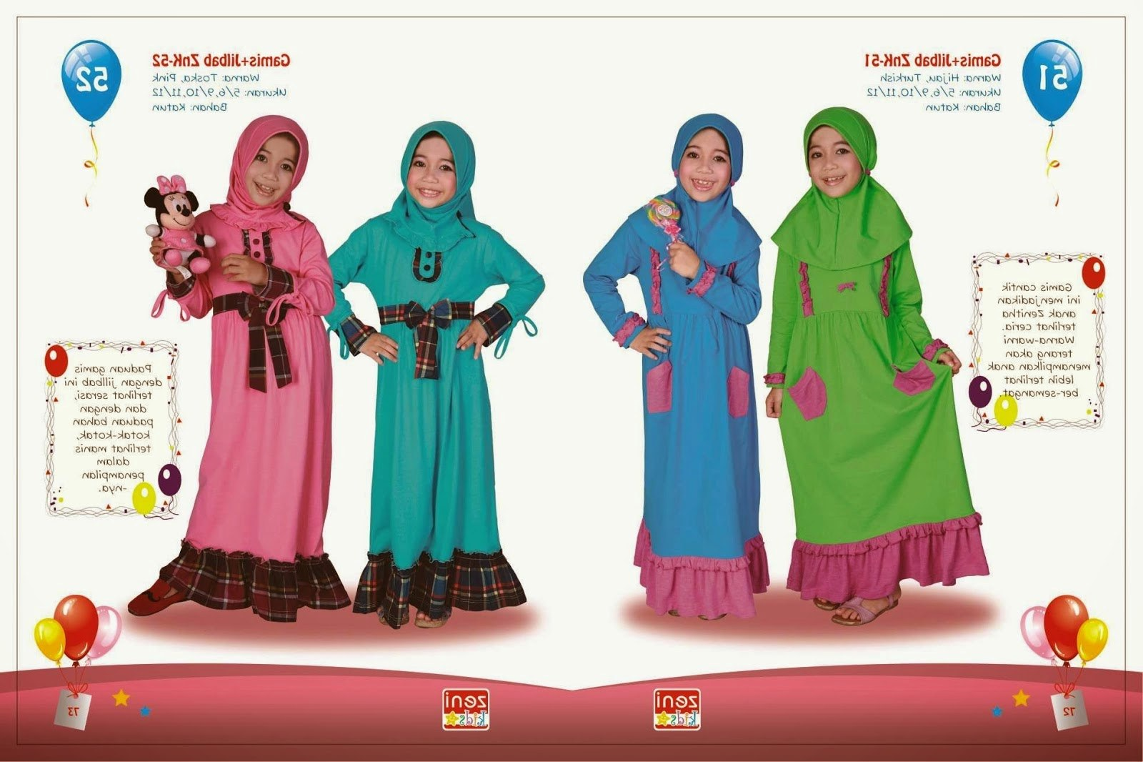 Inspirasi Baju Lebaran Buat Anak Etdg Baju Lebaran Anak Setelan Gamis Yang Imut Dan Lucu 2015