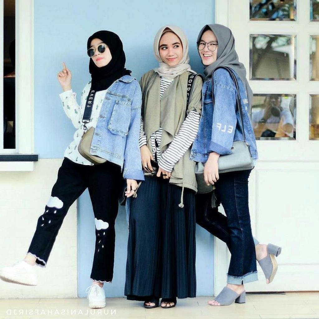 Inspirasi Baju Lebaran Casual 2019 Q0d4 Fashion Wanita Hijab