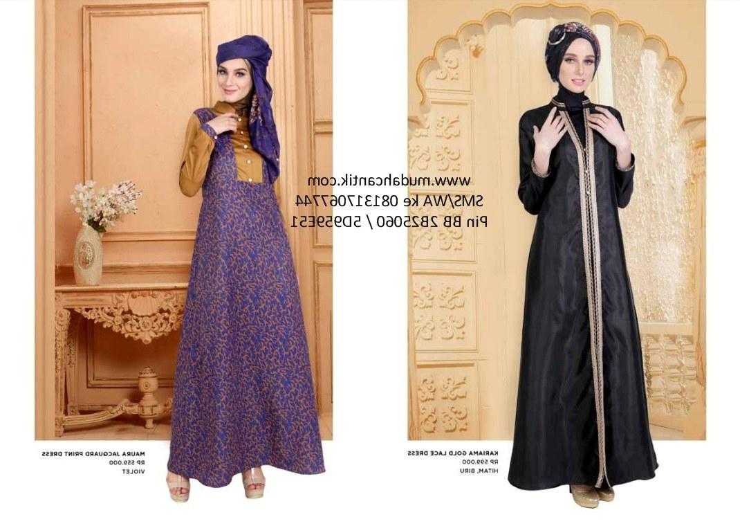 Inspirasi Baju Lebaran Gamis 0gdr Baju Lebaran Gamis Elegan Cantik 2016 Baju Muslim toko