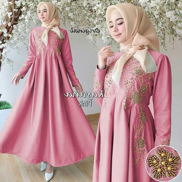 Inspirasi Baju Lebaran Gamis Etdg Trend Gamis Lebaran 2018 Kayana Pink Model Baju Gamis