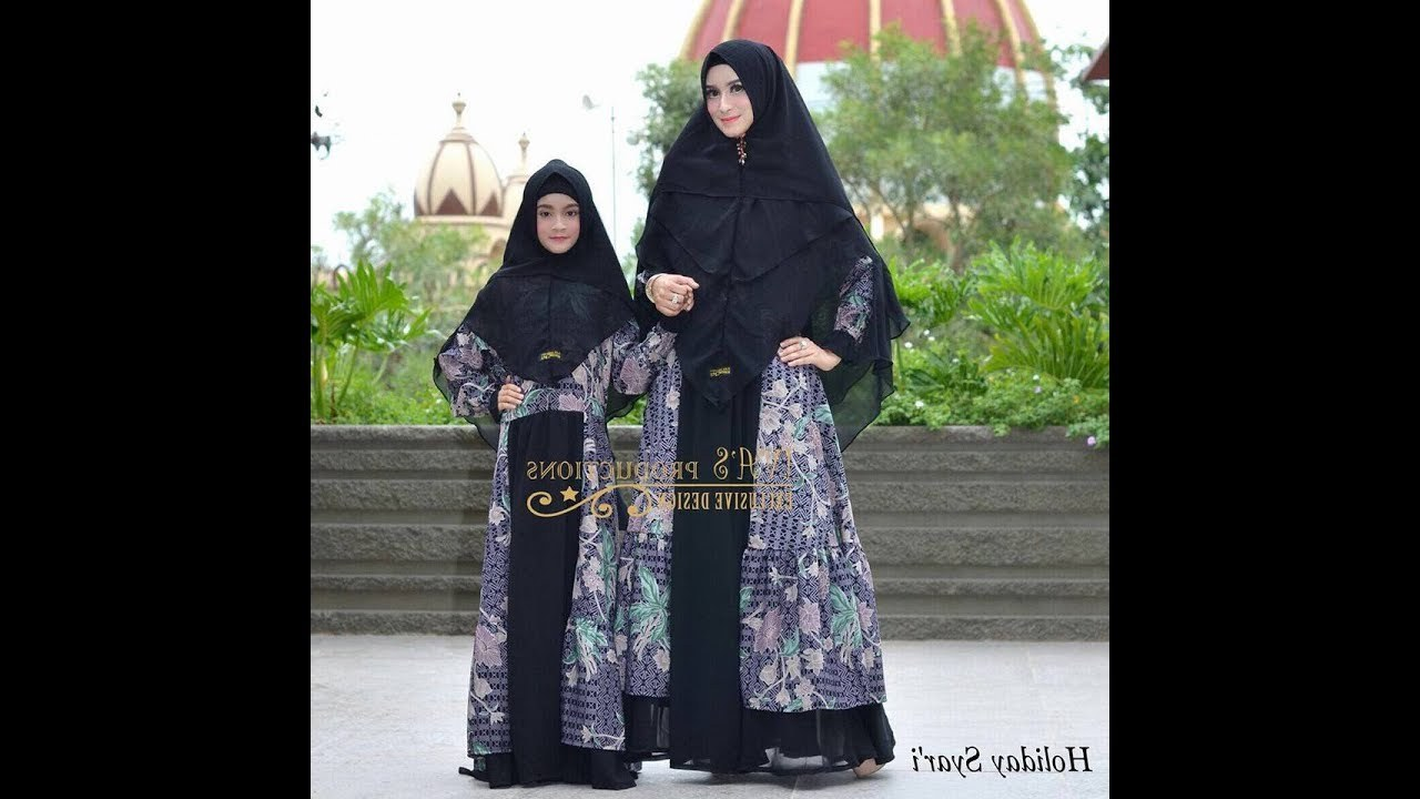 Inspirasi Baju Lebaran Ibu 2018 Budm Baju Syari Couple Ibu Dan Anak Terbaru 2018
