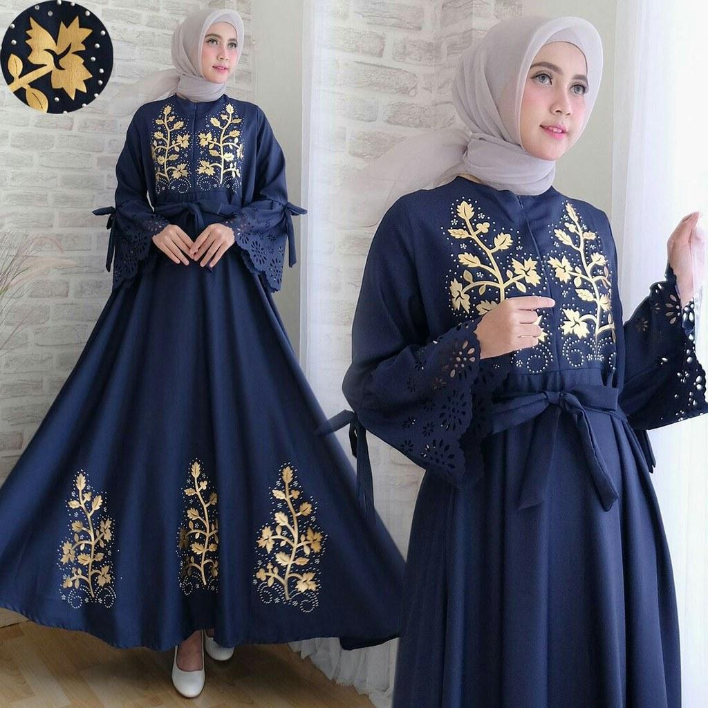 Inspirasi Baju Lebaran Ibu 2018 Zwd9 Baju Muslim Terbaru 2018 Dila01 Busana Modern Untuk