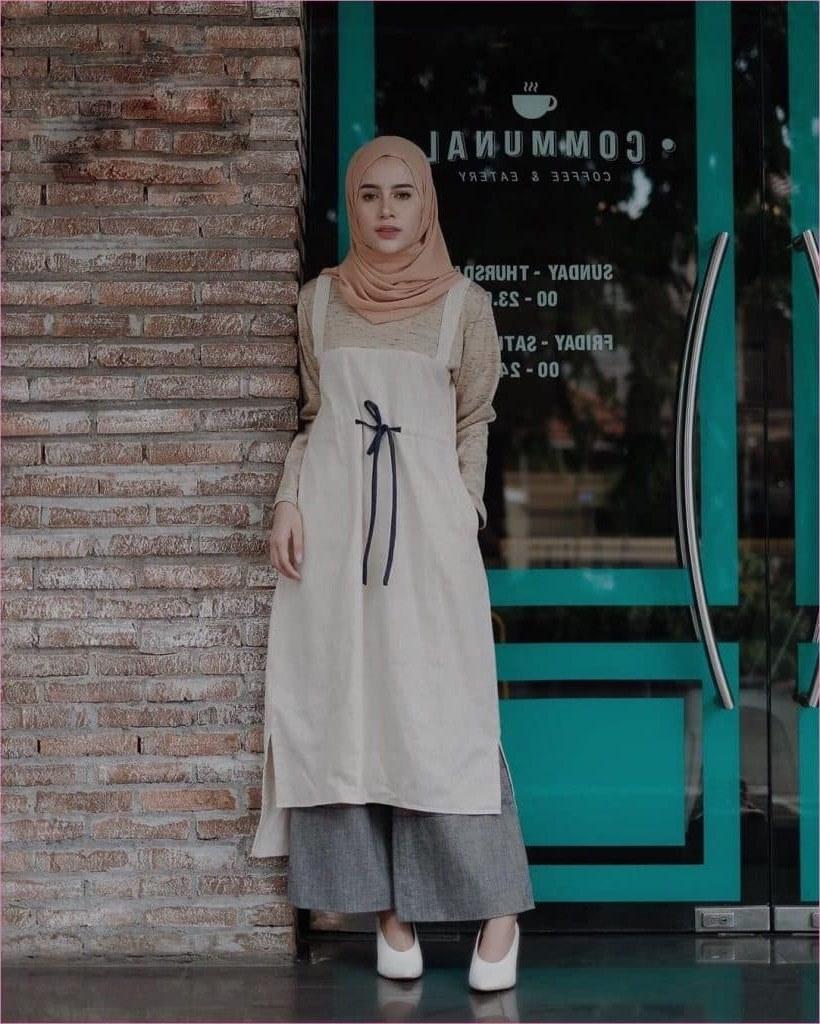 Inspirasi Baju Lebaran Kekinian 2018 Zwdg 99 Model Baju Muslim Syar I Modern 2019 Gamis Dress