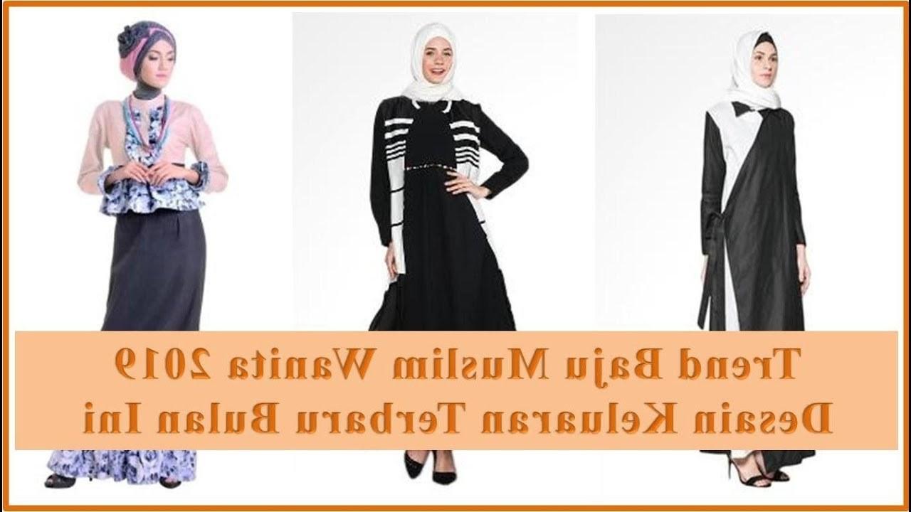 Inspirasi Baju Lebaran Kekinian 2019 Qwdq Trend Baju Muslim Wanita 2019 Terbaru Desain Kekinian