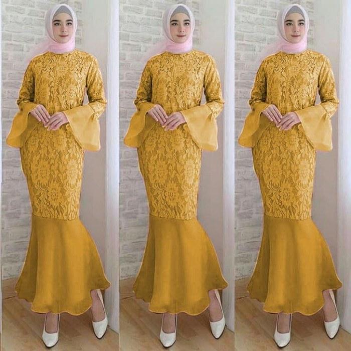 Inspirasi Baju Lebaran Kekinian S5d8 30 Model Baju Gamis Duyung Kekinian Fashion Modern Dan