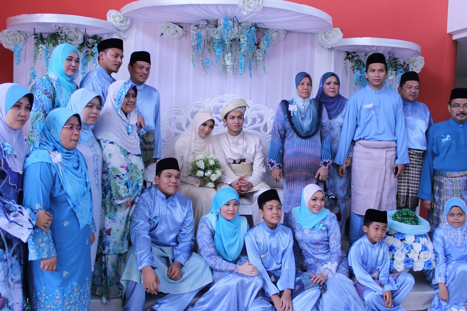 Inspirasi Baju Lebaran Keluarga 2017 S1du 25 Model Baju Lebaran Keluarga Warna Biru Terbaru 2018