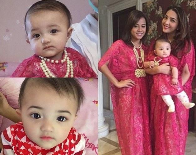 Inspirasi Baju Lebaran Keluarga Anang ashanty S5d8 Cantiknya Trio ashanty Aurel Dan Arsy Dengan Kaftan Pink