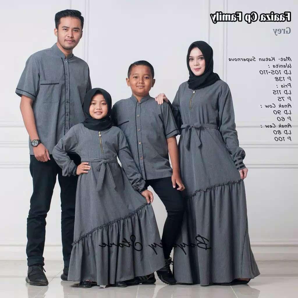 Inspirasi Baju Lebaran Keluarga Warna Biru Dwdk Couple Keluarga Faaiza ori by Boyazy Katalog Bajugamismu