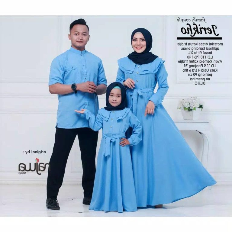 Inspirasi Baju Lebaran Keluarga Warna Biru O2d5 Baju Couple Satu Keluarga Jerikho Gamissyari