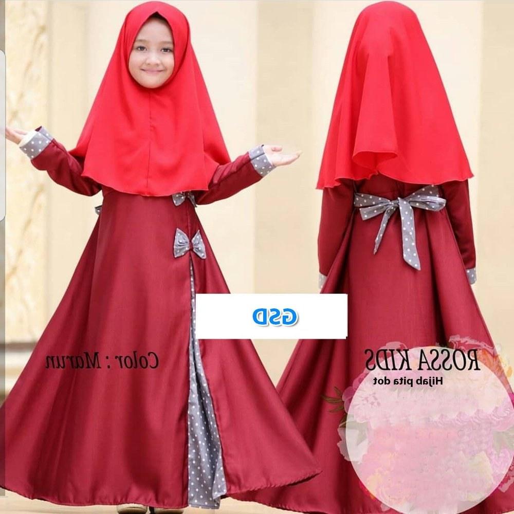 Inspirasi Baju Lebaran Muslim Anak Perempuan Ftd8 Jual Baju Muslim Anak Cewe Gamis Anak Wanita Baju Lebaran