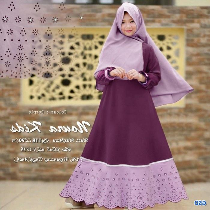 Inspirasi Baju Lebaran Muslim Anak Perempuan Irdz Model Baju Gamis Anak Perempuan Lucu Dan Cantik