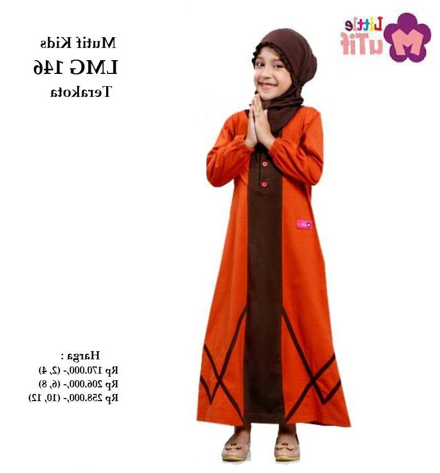 Inspirasi Baju Lebaran Muslim Anak Perempuan Jxdu Jual Baju Muslim Anak Gamis Lmg 146 Terakota Lebaran
