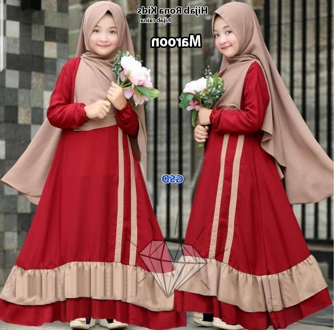 Inspirasi Baju Lebaran Muslim Anak Perempuan T8dj Model Baju Lebaran 2019 Anak Perempuan Gambar islami
