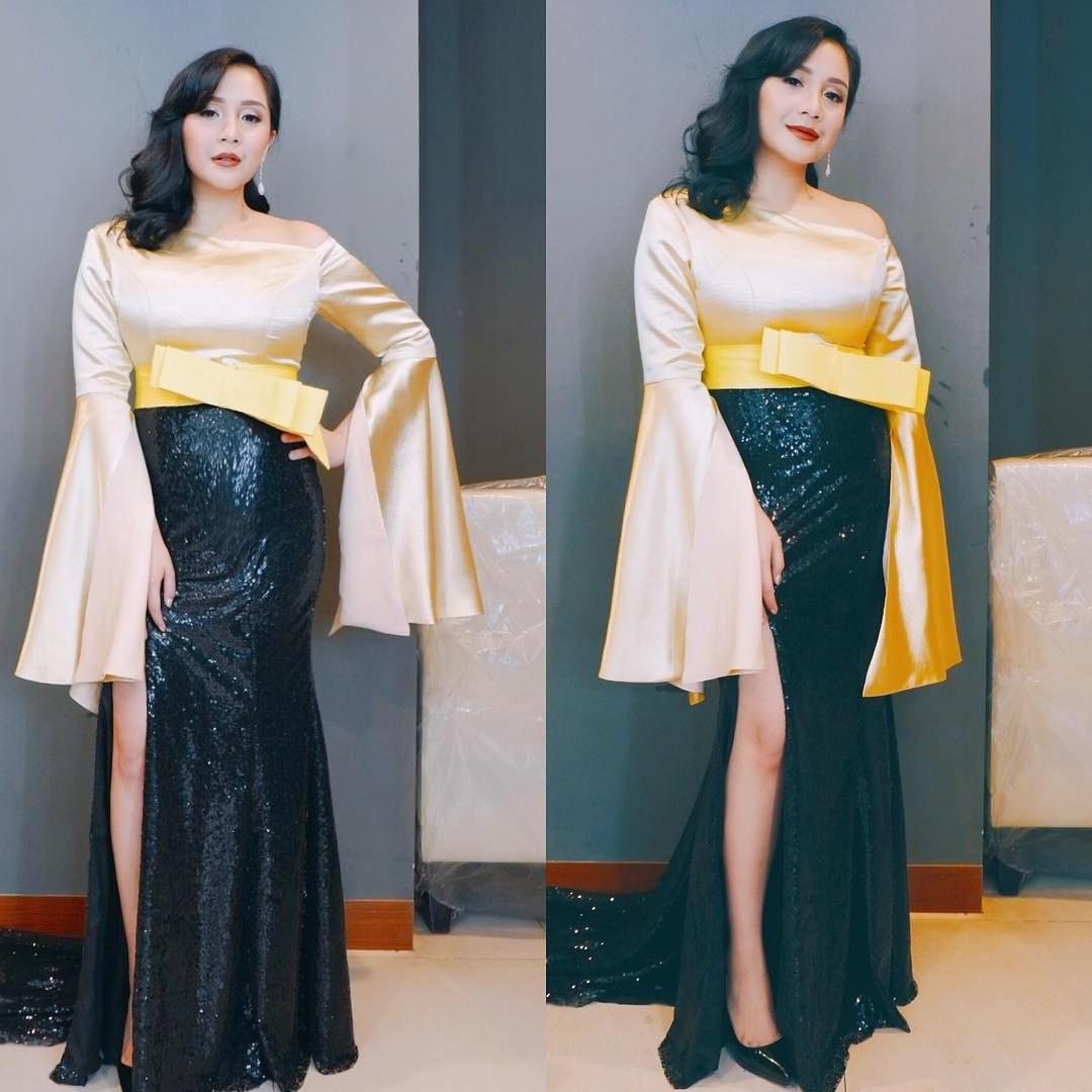 Inspirasi Baju Lebaran Nagita Slavina 2018 Thdr Tampil Seksi Dan Glamor Nagita Slavina Curi Perhatian Di