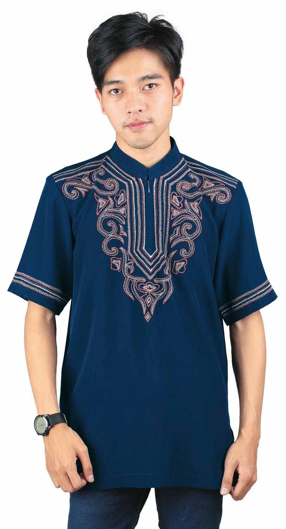 Inspirasi Baju Lebaran Pria Drdp 10 Contoh Baju Muslim Pria Lengan Pendek