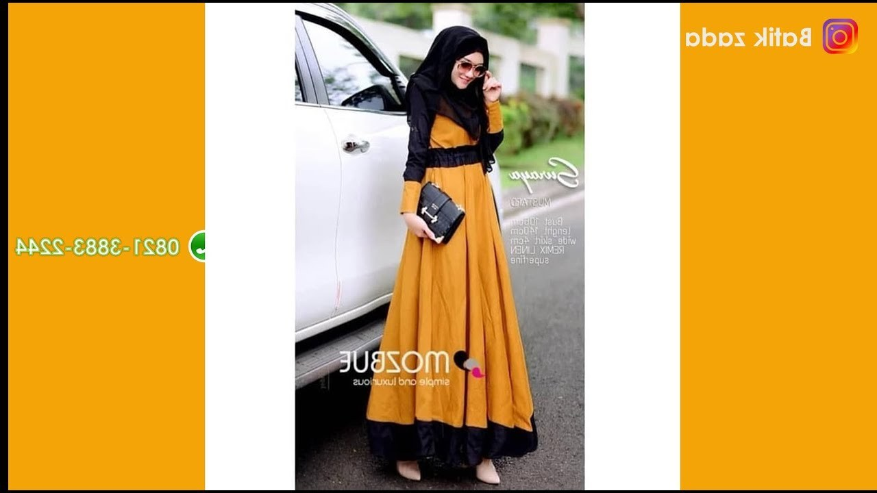 Inspirasi Baju Lebaran Syari 2018 Rldj Model Gamis Terbaru Baju Lebaran 2018 Model Terbaru