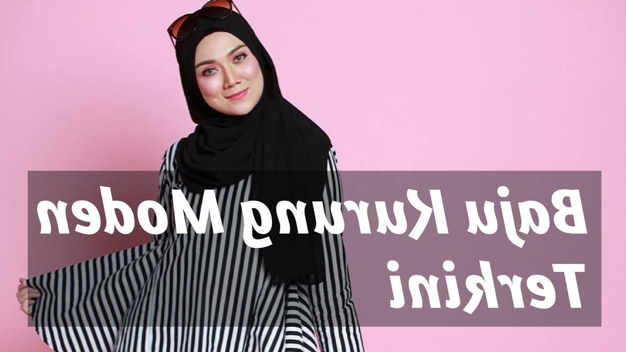 Inspirasi Baju Lebaran Terkini 2018 Budm Baju Kurung Moden Terkini 2018