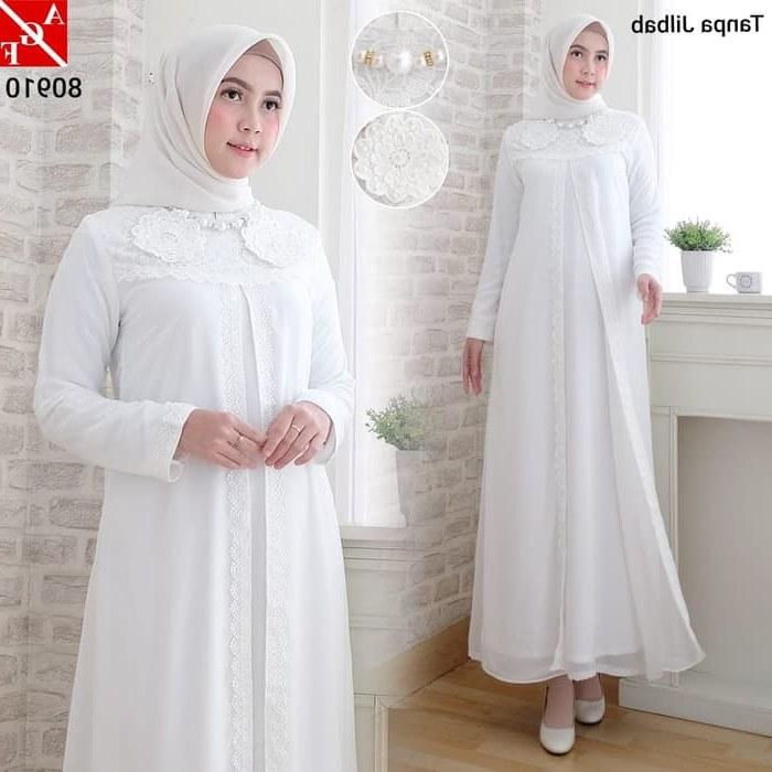 Inspirasi Baju Lebaran Warna Putih D0dg Jual Baju Gamis Wanita Putih Muslim Terbaru Gamis