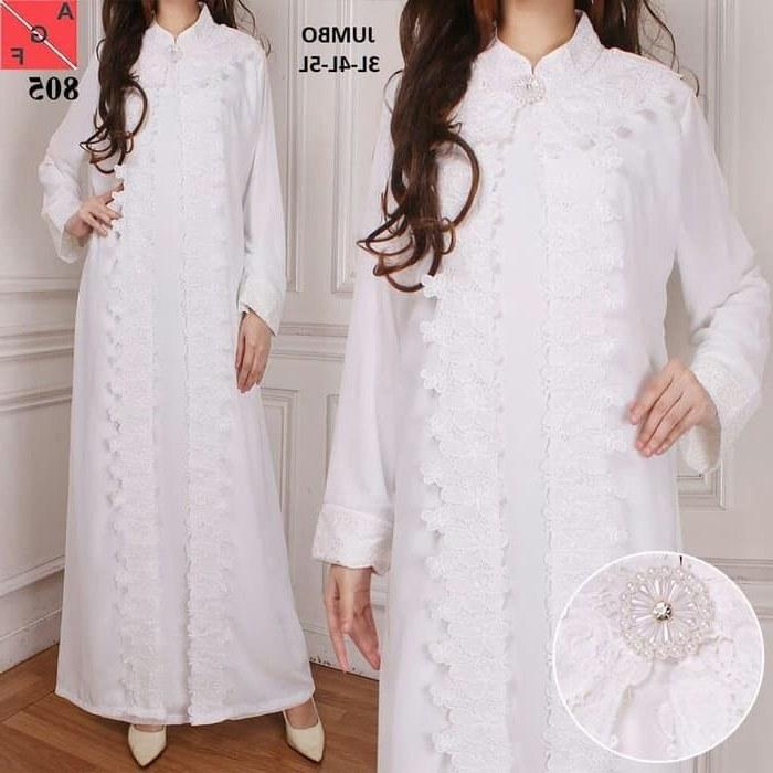 Inspirasi Baju Lebaran Warna Putih Mndw Baju Gamis Terbaru 2019 Warna Putih Af805 Gamissyari
