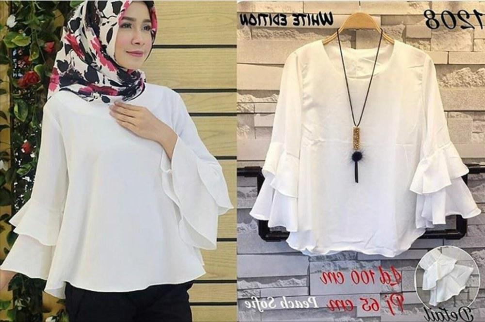 Inspirasi Baju Lebaran Warna Putih Tqd3 Jual Baju Lebaran Fashion Muslim atasan Muslim Putih Di
