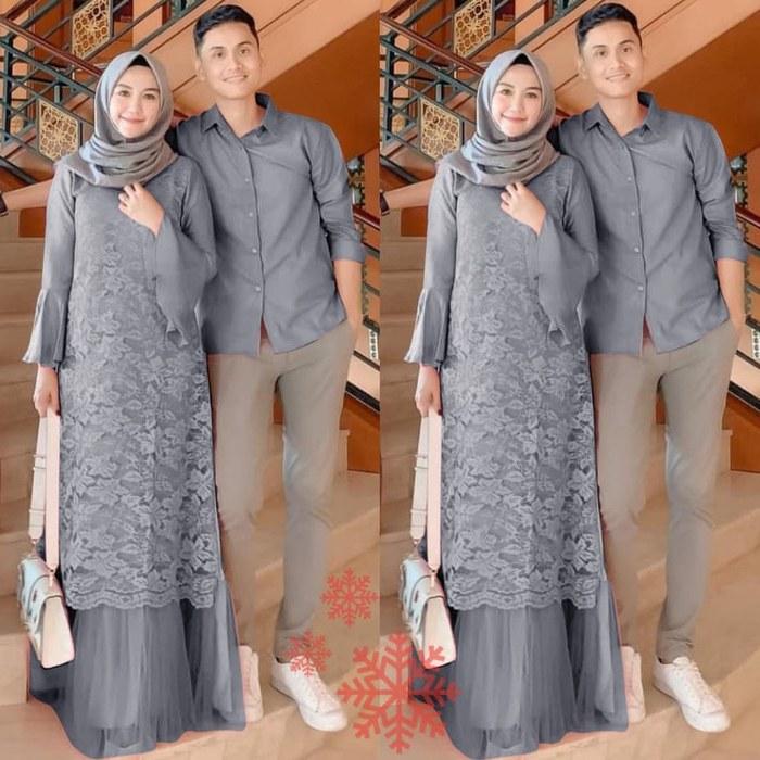 Inspirasi Baju Lebaran Yg Bagus Bqdd Jual Couple Brukat Elin Abu Baju Pasangan Pesta Lebaran