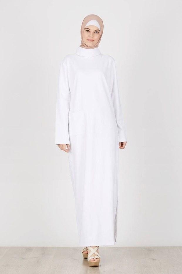 Inspirasi Cari Baju Lebaran Gdd0 Cari Baju Baru Ini 5 Gamis Dan Dress Putih Untuk Dipakai