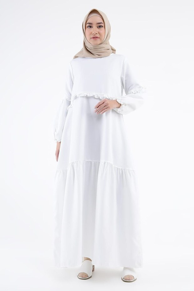 Inspirasi Cari Baju Lebaran J7do Cari Baju Baru Ini 5 Gamis Dan Dress Putih Untuk Dipakai