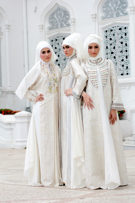 Inspirasi Contoh Baju Lebaran U3dh Inspirasi Model Kebaya Pengantin Muslimah Cantik Modern