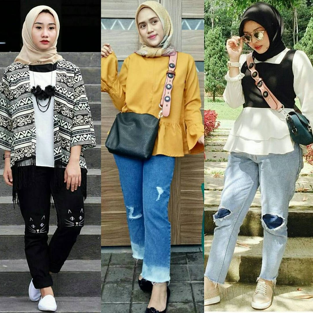 Inspirasi Lihat Model Baju Lebaran 2018 Bqdd 18 Model Baju Muslim Modern 2018 Desain Casual Simple & Modis