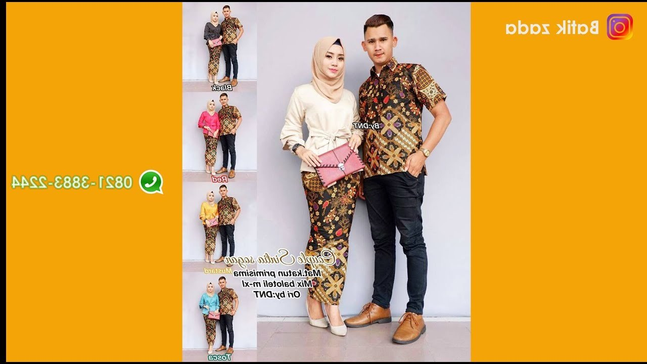 Inspirasi Model Baju Lebaran 2018 Terbaru H9d9 Model Baju Batik Wanita Terbaru Trend Batik Couple Kebaya