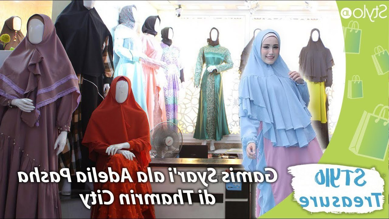 Inspirasi Model Baju Lebaran Di Thamrin City Gdd0 Model Baju Gamis Hijab Syar I Muslim Ala Adelia Pasha Di