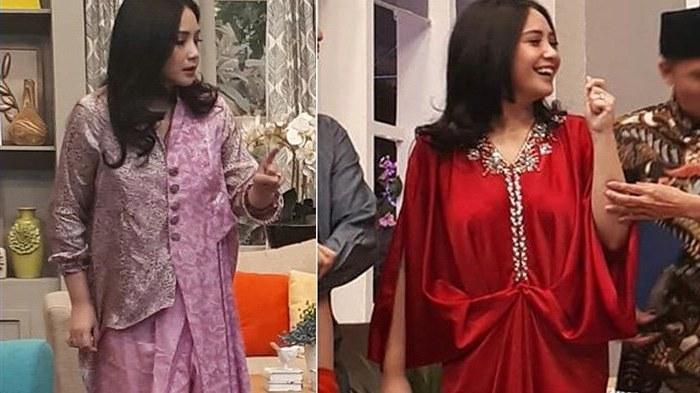 Inspirasi Model Baju Lebaran Nagita Slavina Dwdk 6 Model Busana Muslim Kekinian Ala Nagita Slavina