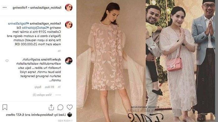 Inspirasi Model Baju Lebaran Nagita Slavina Zwdg Pakaiannya Saja Seharga Rp 25 Juta Nagita Slavina