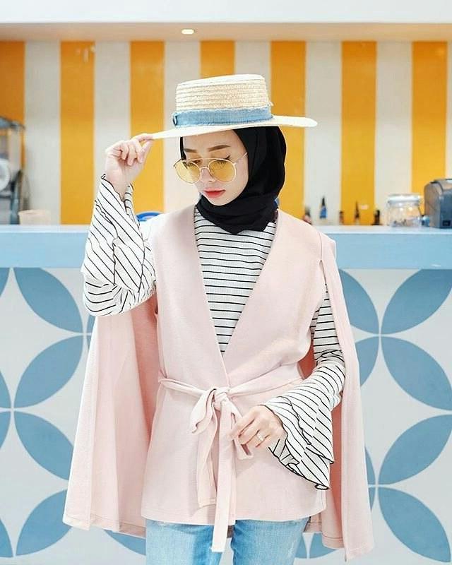 Inspirasi Model Baju Lebaran Tahun 2018 Drdp 20 Trend Model Baju Muslim Lebaran 2018 Casual Simple Dan