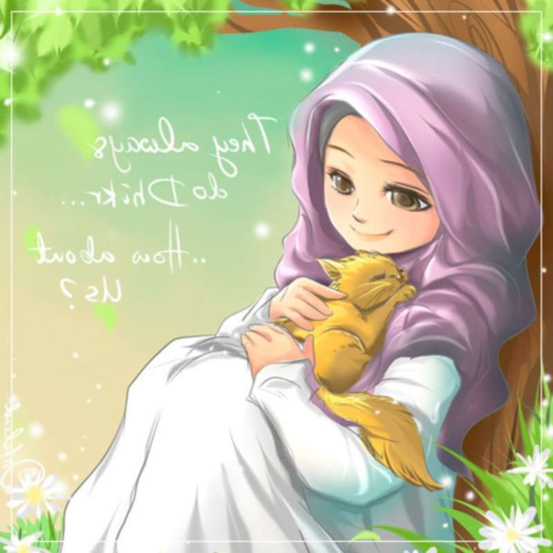 Inspirasi Muslimah Kartun Cantik 8ydm 22 Gambar Kartun Wanita Muslimah Anak Cemerlang