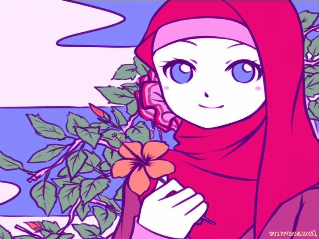 Inspirasi Muslimah Kartun Cantik Drdp Wallpaper Kartun Muslimah Cantik