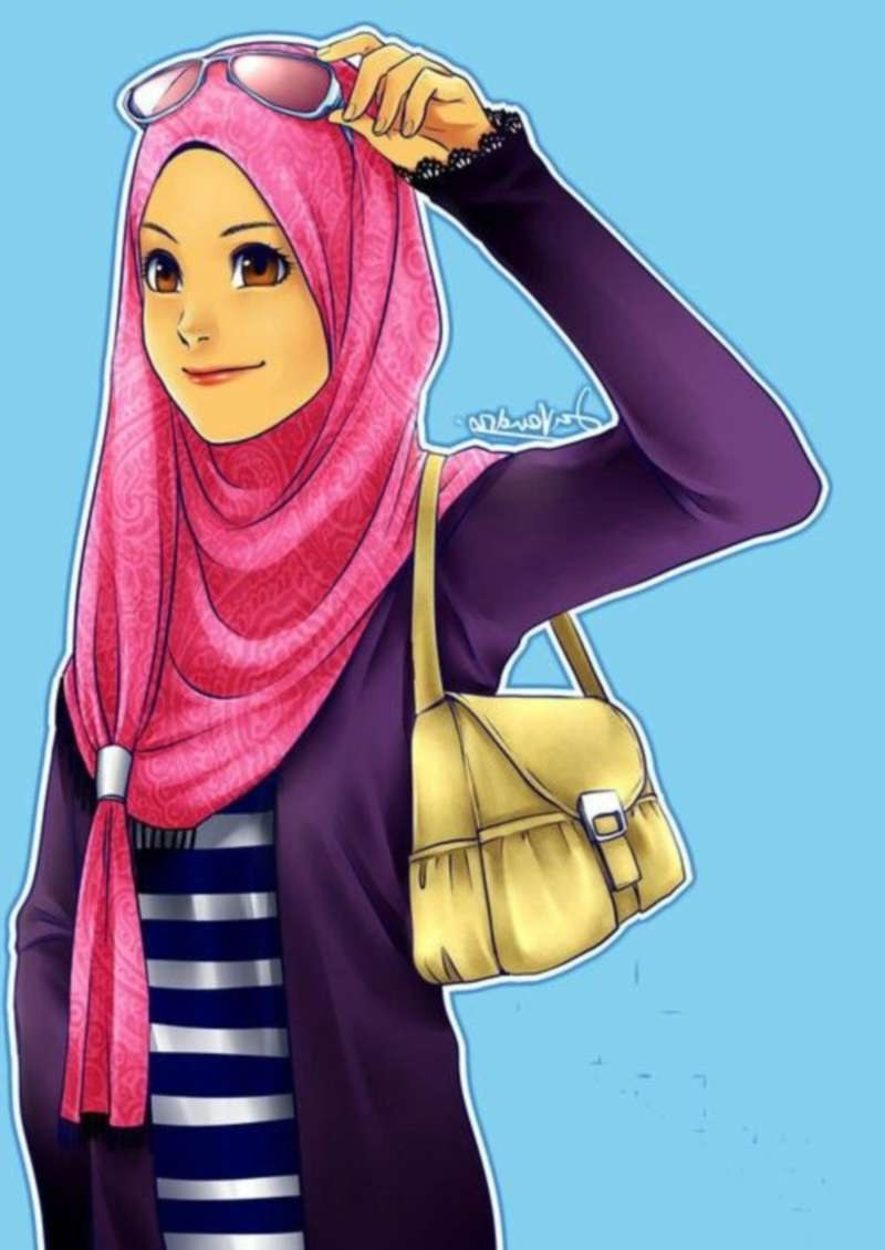 Inspirasi Muslimah Kartun Cantik Etdg 17 Gambar Kartun Muslimah Cantik Berhijab Anak Cemerlang