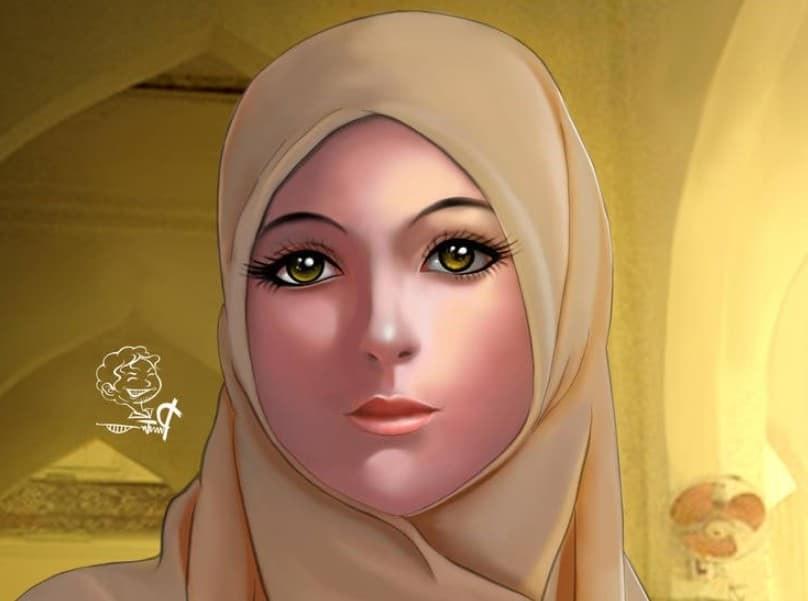 Inspirasi Muslimah Kartun Cantik Mndw 30 Gambar Kartun Muslimah Bercadar Syari Cantik Lucu