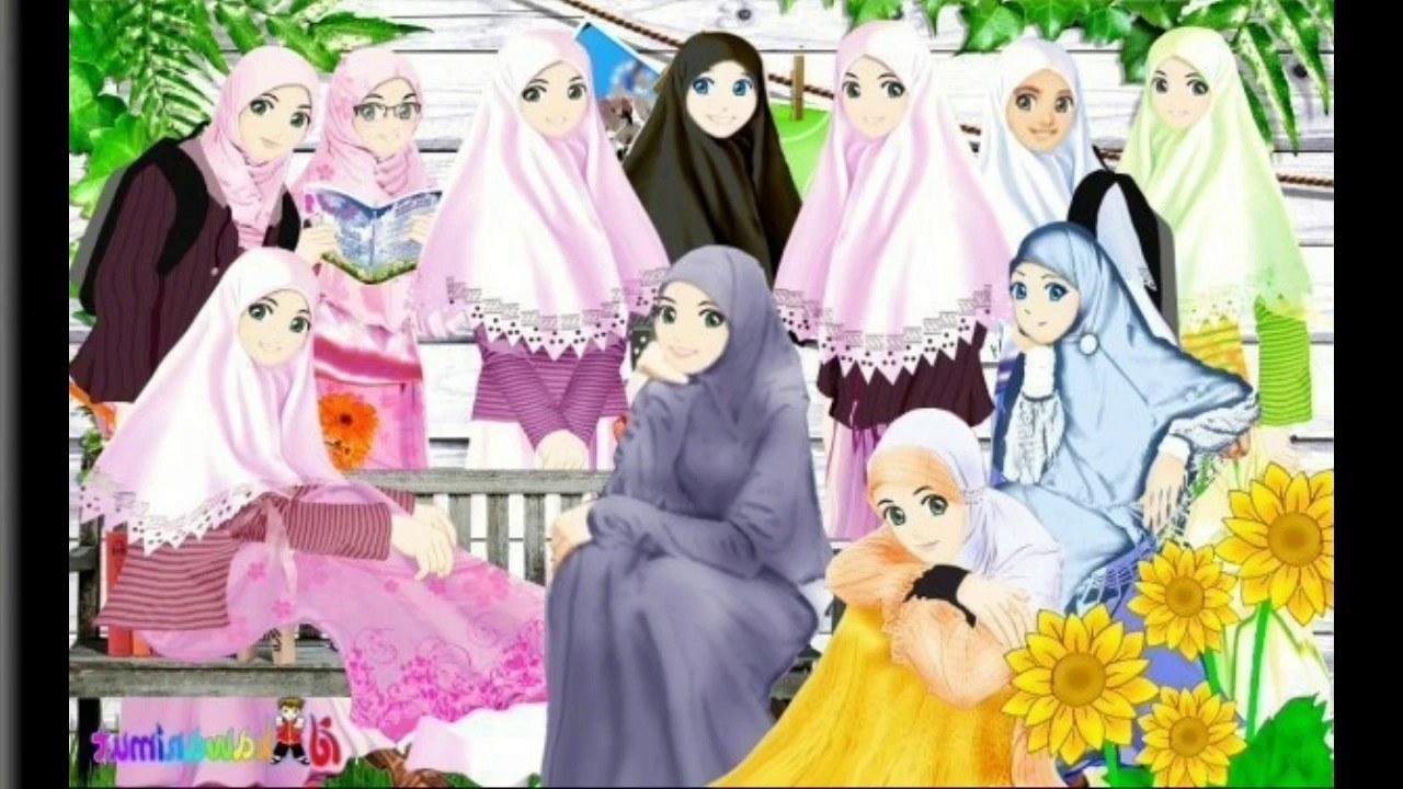 Inspirasi Muslimah Kartun Cantik Wddj Album Kartun Muslimah Cantik
