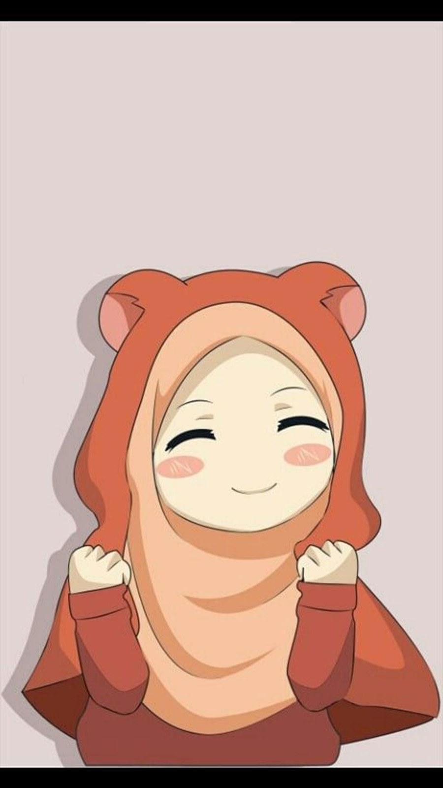 Inspirasi Muslimah Kartun Lucu 4pde 1000 Gambar Kartun Muslimah Cantik Bercadar Kacamata El