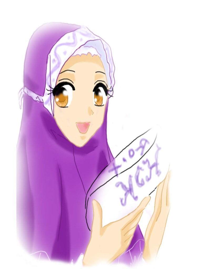 Inspirasi Muslimah Kartun Lucu 87dx Gambar Animasi Dp Bbm Wanita Muslimah Terlengkap
