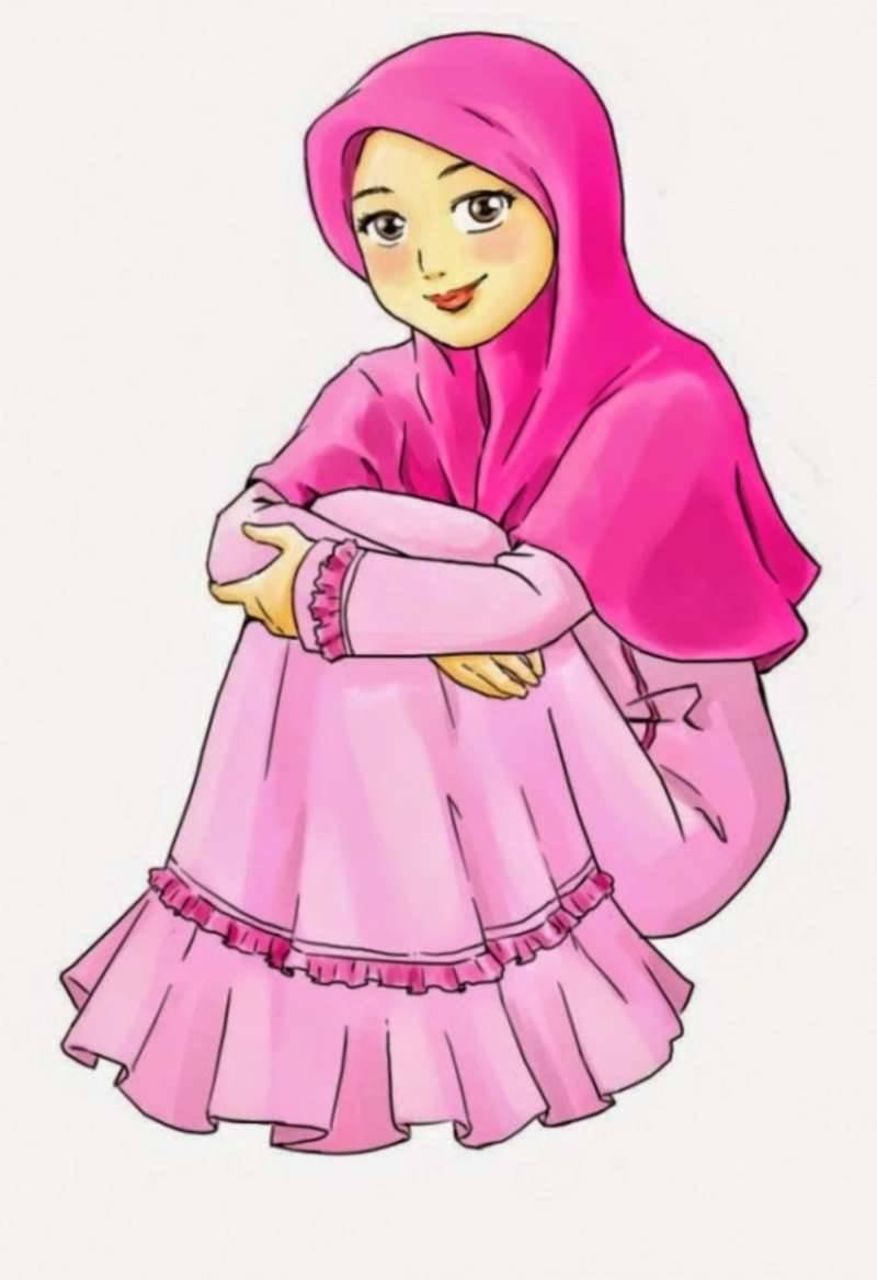Inspirasi Muslimah Kartun Lucu Budm 19 Kartun Muslimah Lucu Anak Cemerlang