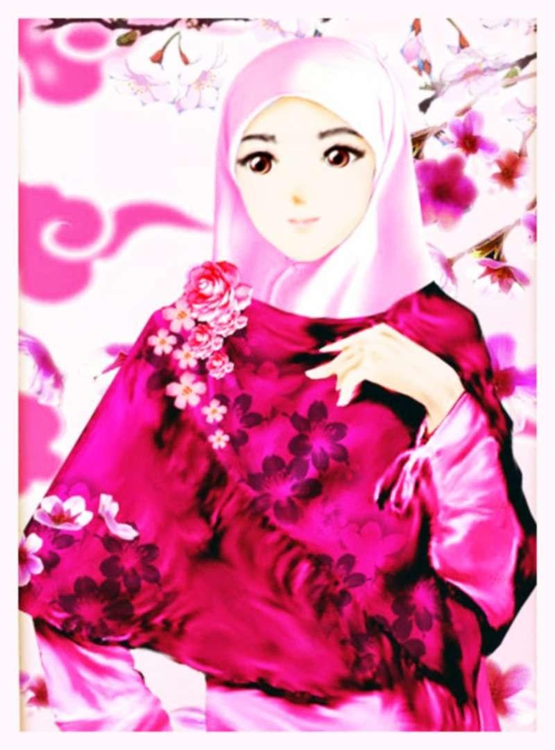 Inspirasi Muslimah Kartun Lucu Drdp Gambar Lucu Kartun Berjilbab